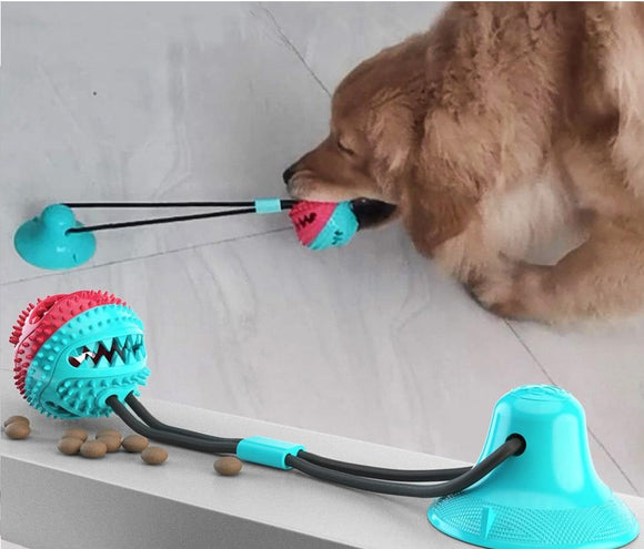 Greatly Durable Interactive Silicon Suction Cup Tug Dog Toy for Your Pet Dogs Playing Chewing Treats