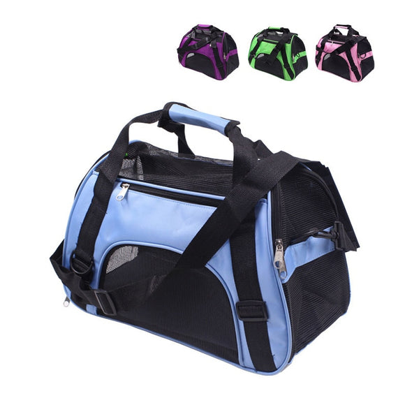 Dog Carrier Bags Travel Portable Bag Outdoor Breathable Mesh Handbag