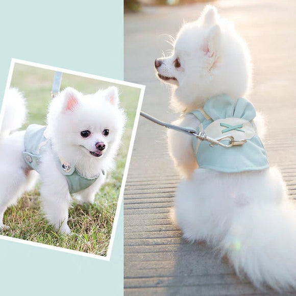 Super Cute Dog Vest Harness Leash Set Adjustable Breathable Chest Strap For Your Lovely Dogs