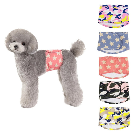 Male Dog Diapers Belly Band Wrap Nappies Waterproof Train & Keep Your Beloved Dog Clean & Active