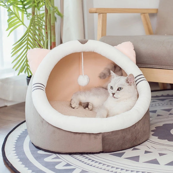 Super Charming & Fancy Dog Cat Bed House Soft Warm Cozy Foldable Pet House for Your Beloved Dog