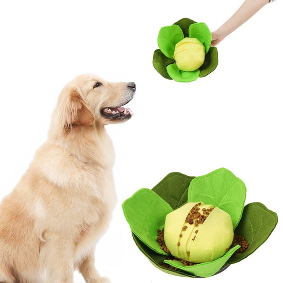 Dog Sniffing Toy Fresh Cauliflower Interactive Hidden Food Toy For Training Natural Smelling Skills