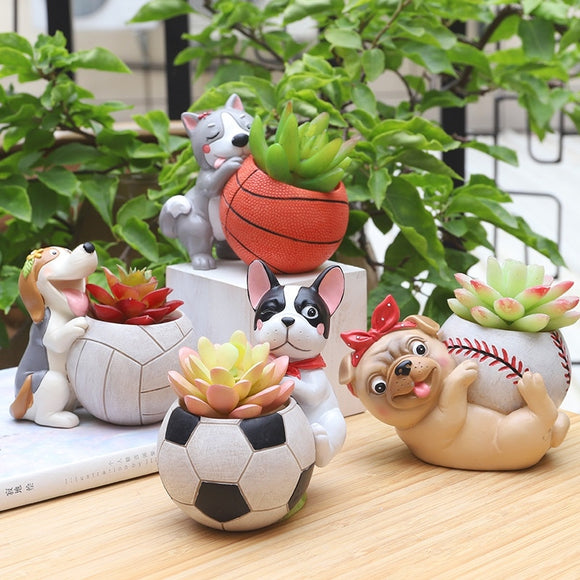 Super Cute Flowerpot Dog Planter Succulent Plants Decorative Flower Pot