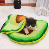 Fancy & Comforatble 3D Dog Bed Cushion Simulation Bread Pizza Avocado Sleeping Cushion Mat Washable Foldable