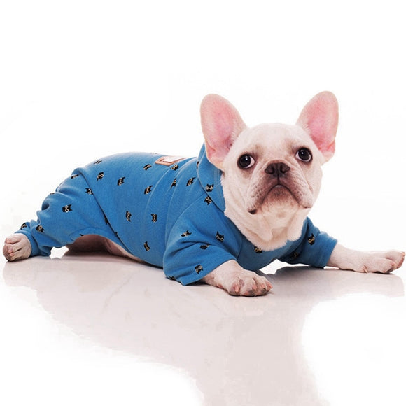 Cute Dog Jumpsuit Elegant & Comfortable Hoodie Jacket Outfit Clothes
