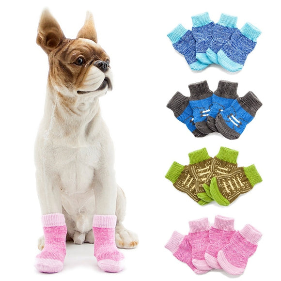 Warm Dog Socks Soft Charming Anti Slip Cotton Socks for Paw Protector