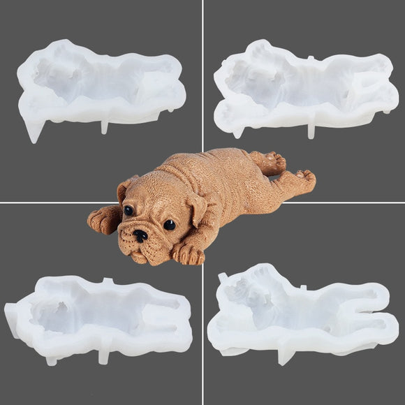 Dog Cake Mold 3D Silicone Ice Cream Chocolate Jelly Mould Cake Baking Tools Accessories