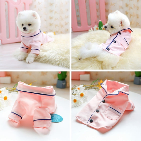Cute Dog Pajamas Charming Puppy Pyjamas Jumpsuit Clothes for Your Lovely Dogs