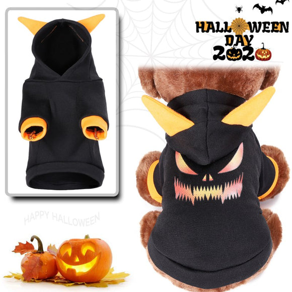 Halloween Dog Coat Cute Cosplay Puppy Costume Hoodie Clothes Fashion & Warm