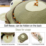 Dog Sniffing Toy Squeaky Tortoise Shape Interactive Hidden Food Sleeping Toy