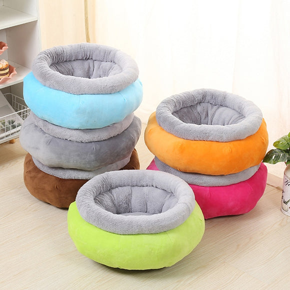 Cute Dog Bed Nest Soft Warm Elegant Sleeping Round Cushion Puppy Pet Beds Home Decor