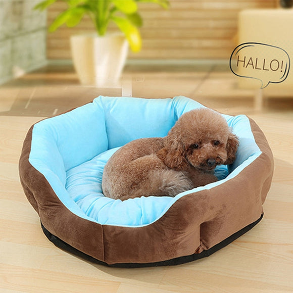 Warm Dog Bed Nest Elegant & Cozy Puppy Pet Round Beds Cushion