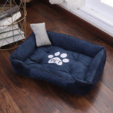 Cute Dog Bed Cushion Soft Warm Cartoon Paw Nest Dogs Sleeping Beds House