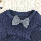 Lovely Dog Sweater Bow Tie Elegant Puppy Sweatshirt Coat Clothes