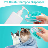 Dog Bath Brush Soft Silicone Massage Shower Brushes Remove Hair Grooming Comb Dogs Cleaning Tools
