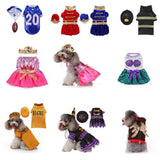 Dog Halloween Costumes Cosplay Princess Player Christmas Puppy Dress Clothes Party Suits