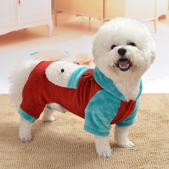 Dog Christmas Clothes Super Cute and Charming Santa Cosplay Hoodie Jacket Pet Dogs Xmas Winter Outfit
