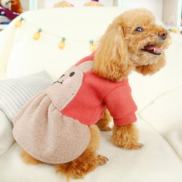 Cute Dog Dress Fashion & Adorable Rabbit Princess Costume Puppy Skirt Clothes