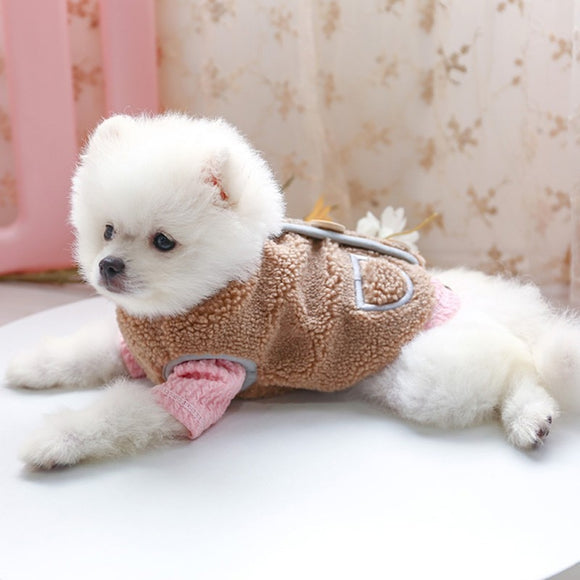 Cute Dog Sweater So Warm & Comfortable Charming Wool Sweatshirt Clothes Buckle Vest