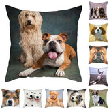 Cute Dog Print Pillowcase Lovely Various Dogs Cushion Pillow Cover for Sofa Bed Home Decor