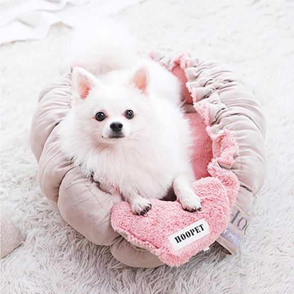 Charming Dog Bed Nest Warm Soft Fluffy Sleeping Puppies Pet Beds Cushion