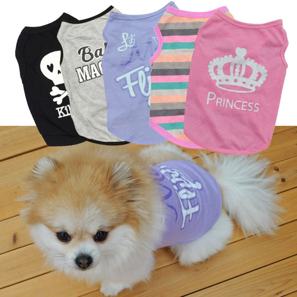 Cute Dog T-shirt Flexible Sleeveless Shirt Vests For Your Lovely Dogs