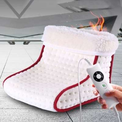 foot warmer, electric foot warmer, foot heater, heated slippers