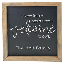 Load image into Gallery viewer, Every Family Has a Story Sign