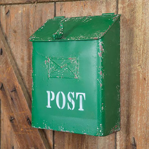 Green Mail Box with Bird CTW Home