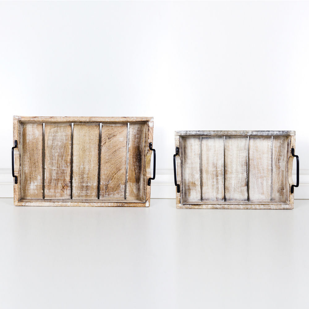 Mango Wood Trays- Set of 2