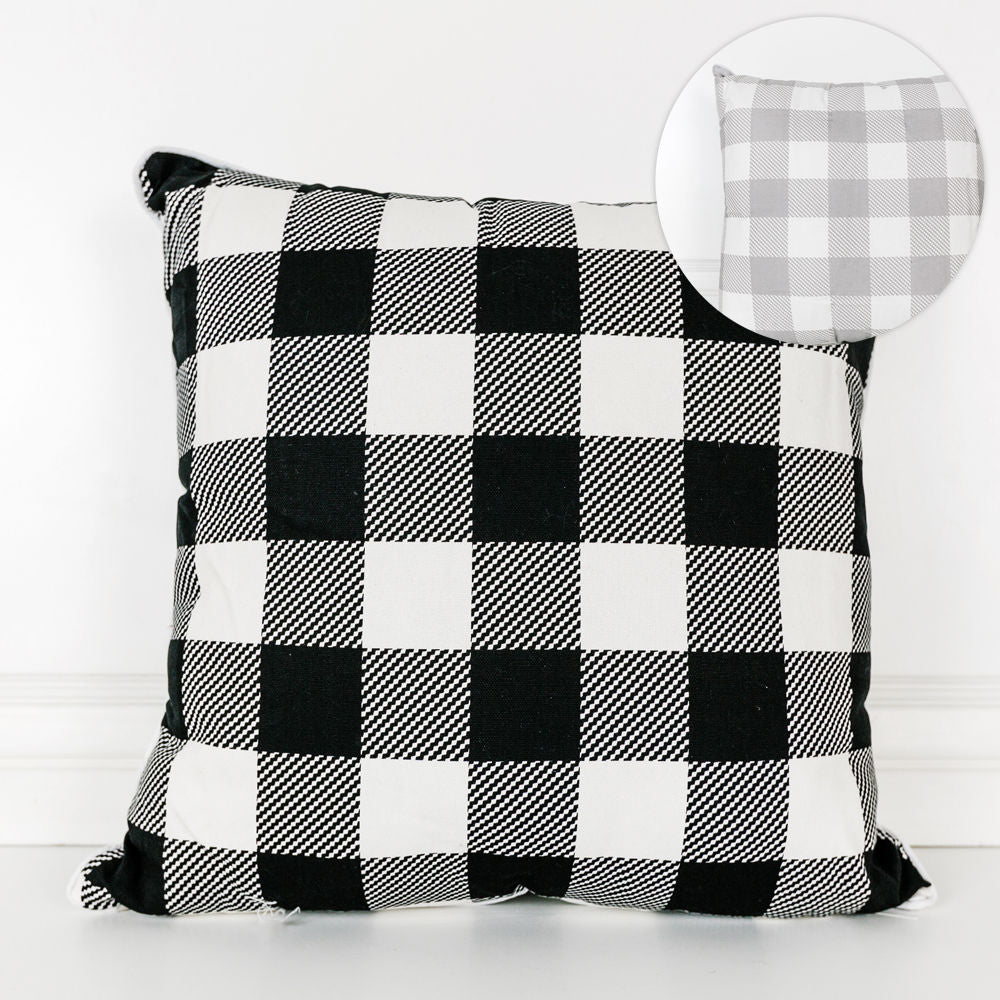 Reversible Buffalo Check Pillow