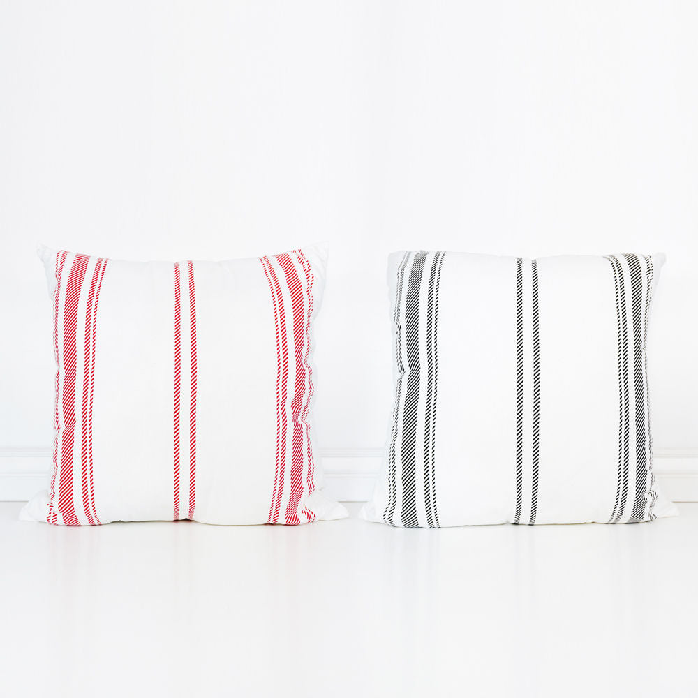 Striped Reversible Linen Pillow