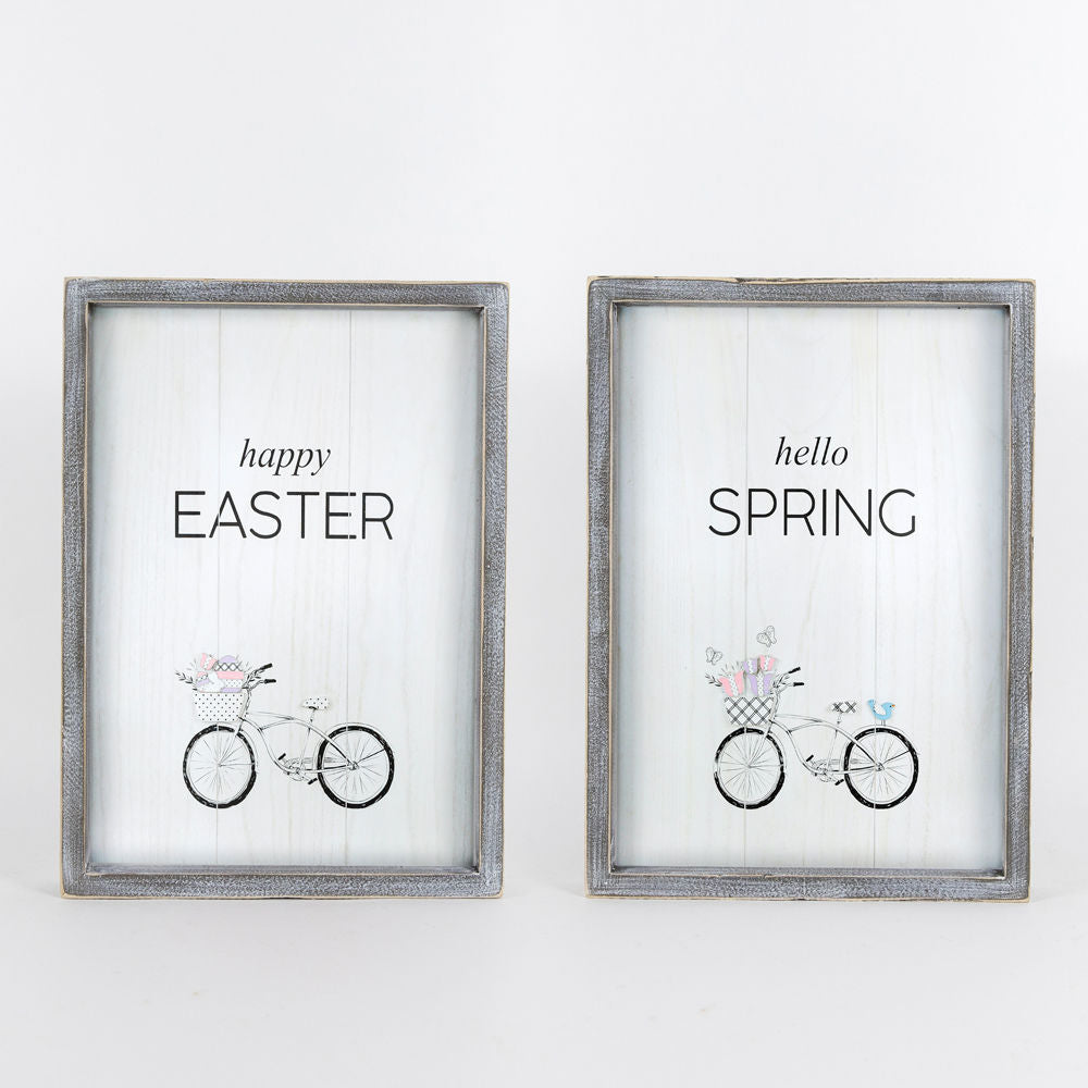 Spring Easter Reversible Sign