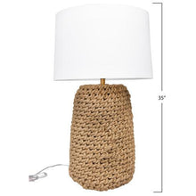 Load image into Gallery viewer, Jute Rope Table Lamp with Linen Shade
