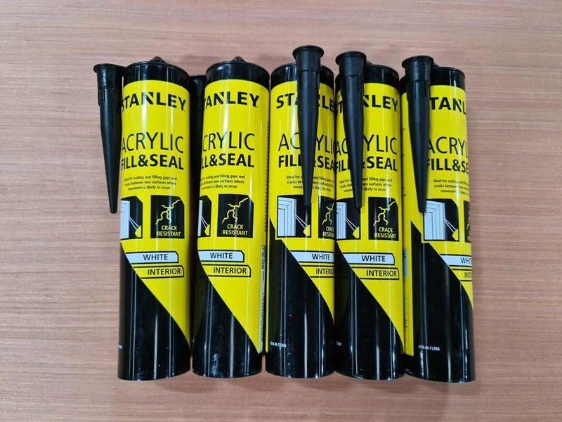 Stanley Sealant 300ml Fill and Seal White 2nds - Renovation Warehouse