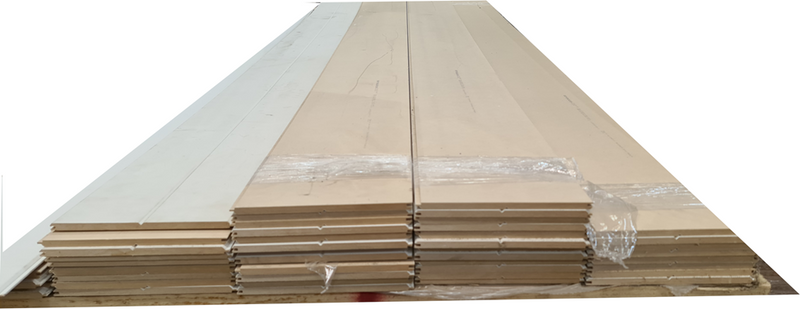 MDF 2750x215x9mm V Grooved PrePrimed