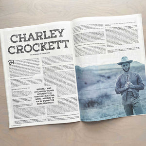 Charley Crockett feature spread in the 11th Hour magazine