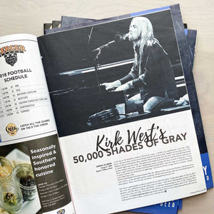 Feature spread of Kirk West's photography of Gregg Allman in the 11th Hour magazine.