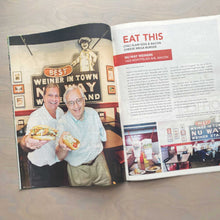Load image into Gallery viewer, Owners of Nu Way Weiners showing off their favorite treats in a feature spread in 11th Hour magazine
