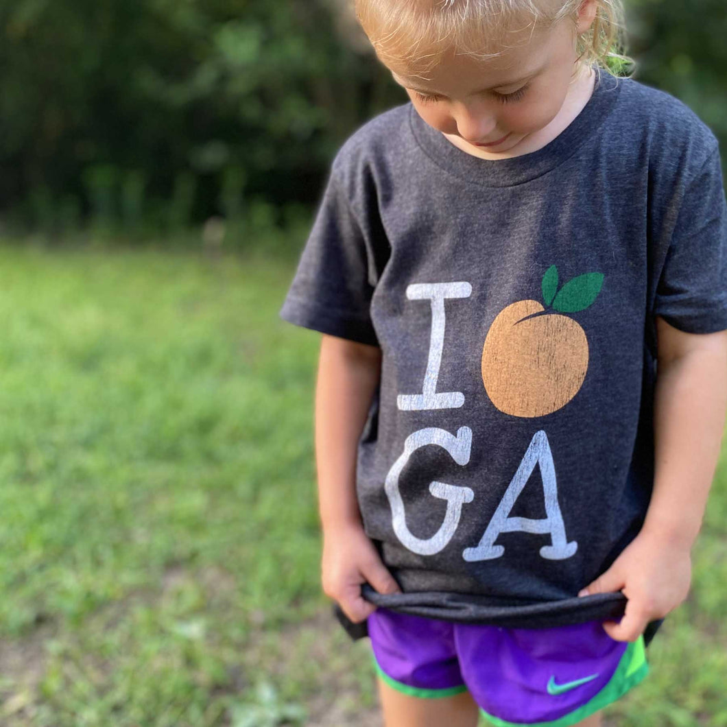 I Peach GA Kid Tees