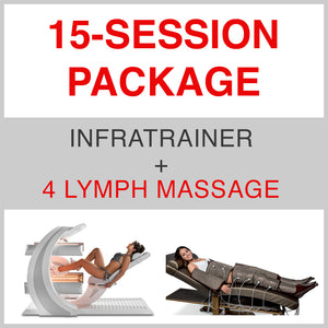 15 SESSION PACKAGE INFRATRAINER + 4 Lymph Massage