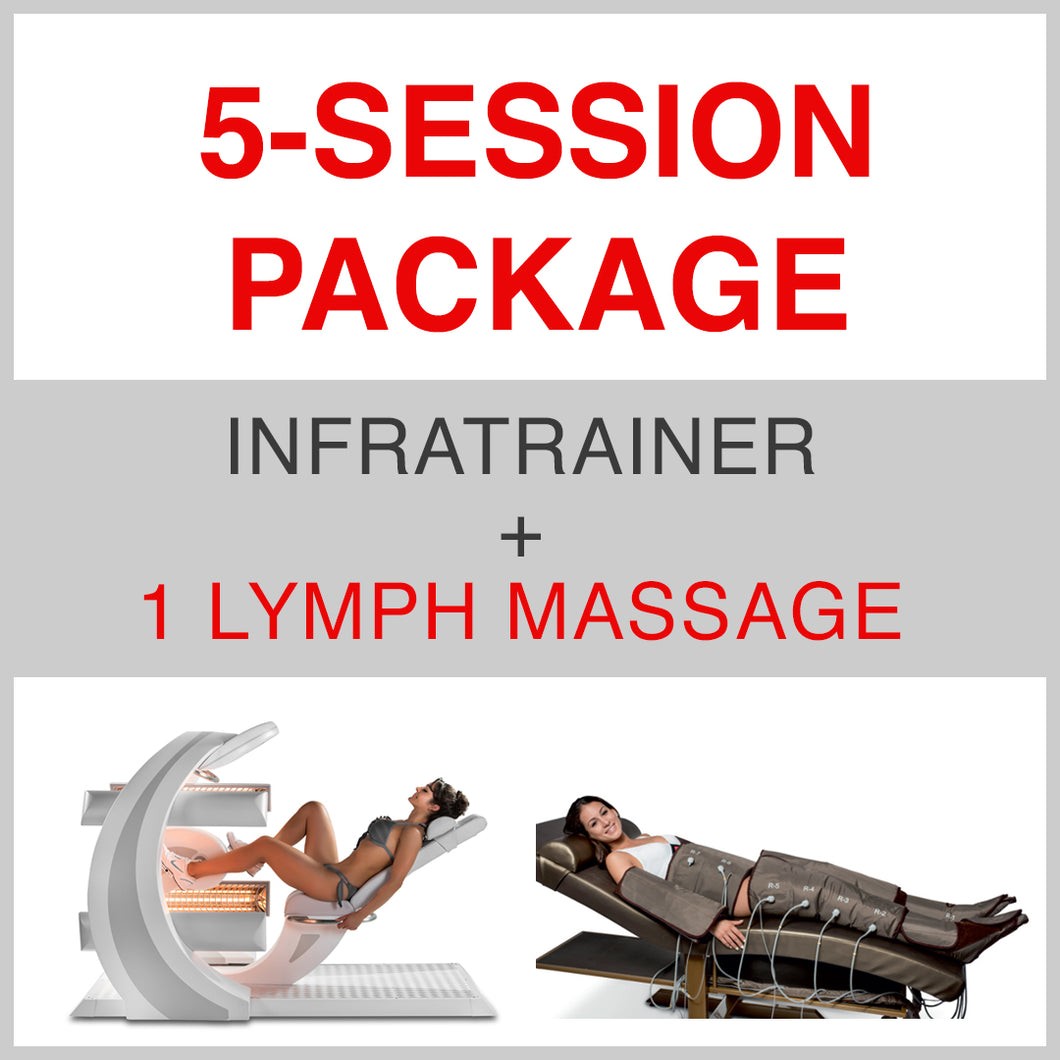 5 SESSION PACKAGE INFRATRAINER + 1 Lymph Massage