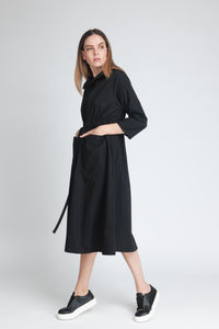 Chic Drawstring Midi Dress - Elrosé Store