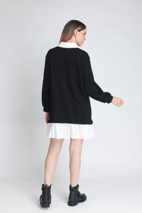 Shirt Style Sweatshirt Dress - Elrosé Store