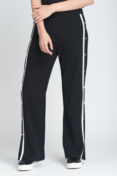 Press Stud Wide-Leg Trouser - Elrosé Store