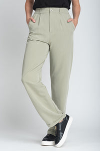 Fluid Elasticated Waist Wide-Leg Trouser - Elrosé Store