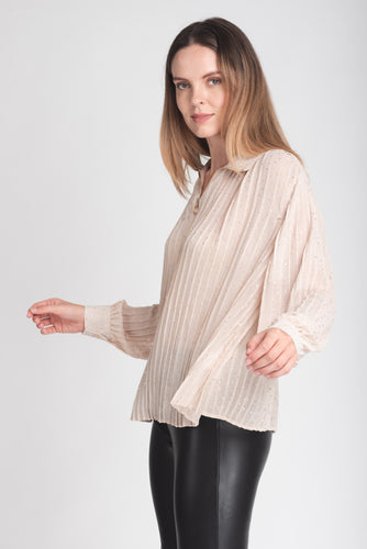 Effortless Zip Collar Blouse - Elrosé Store
