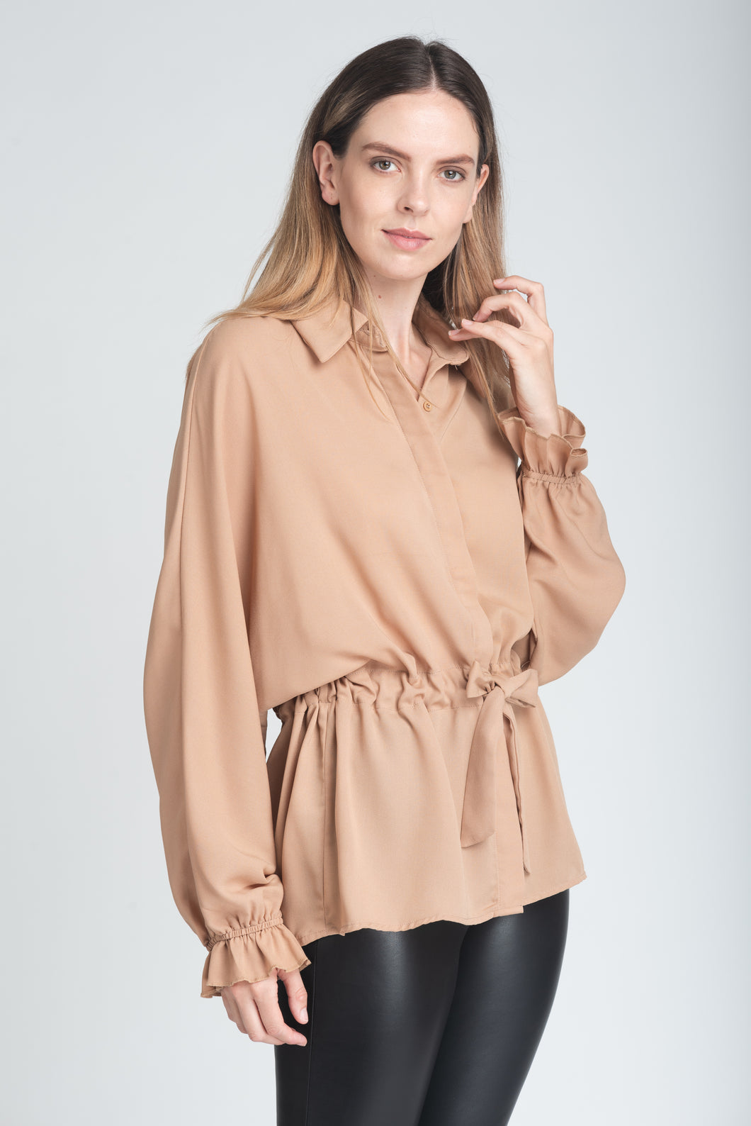 Effortless Drawstring Shirt - Elrosé Store
