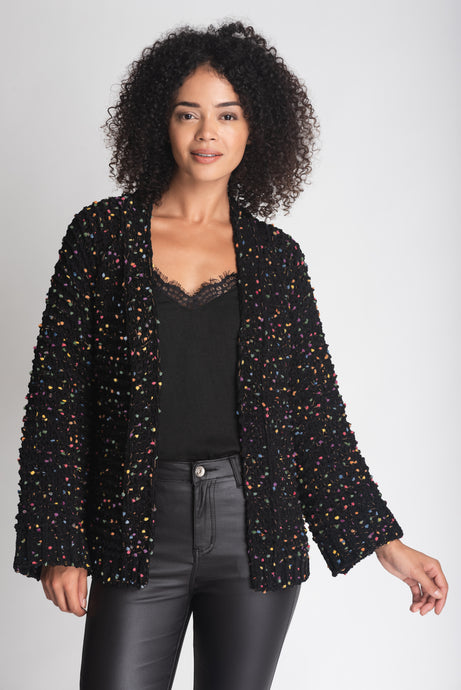 Luxe Cardigan With Multi Colour Thread - Elrosé Store
