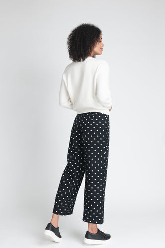 Fluid Polka Dot Wide-Leg Trouser - Elrosé Store